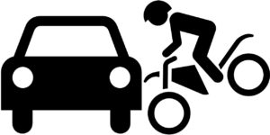 Ha a kerékpár balesetet a biciklis okozza, neki kell megtérítenie a kárt. Léteznek olyan biztosítások, melyek kifizetik a kerékpáros által okozott károkat is.